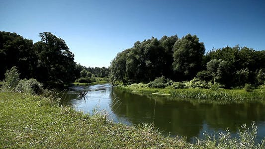 Thumbnail for Summer Landscape of Small Rivers