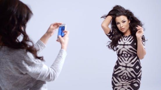 Thumbnail for Fashion Model Posing For a Photograph