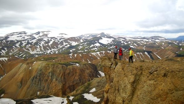 Thumbnail for Trekkers On The Landmannalaugar, Iceland