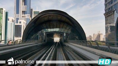 Dubai Metro Train UAE