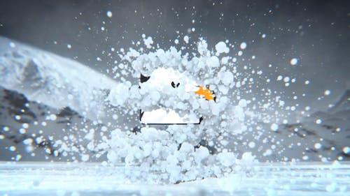 Winter Snow Logo Revealer