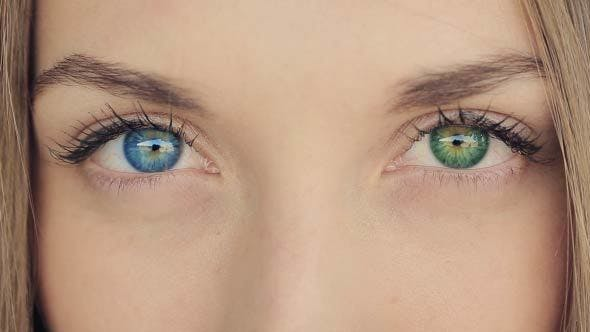 Thumbnail for Woman With Blue And Green Eyes- Heterochromia