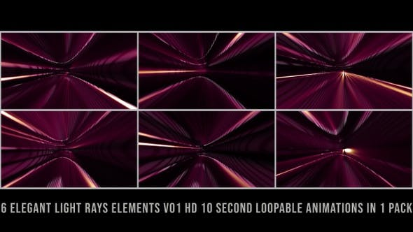 Thumbnail for Elegant Light Rays Elements Magenta V01