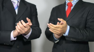 Clapping Businessmen, Applause,