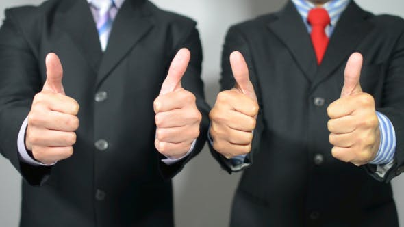 Thumbnail for Businessmen Appreciating, Thumbs Up with Both Hand