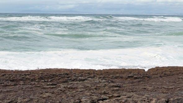 Thumbnail for Big Ocean Waves Breaking On Rocks