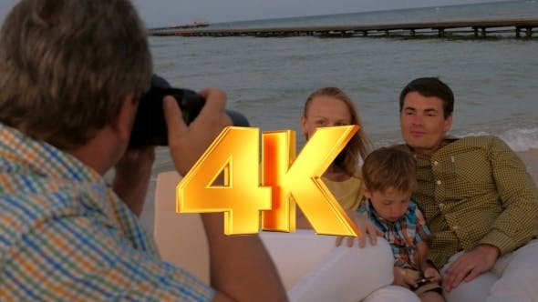 Thumbnail for Taking Pictures Of The Family On Sea Shore