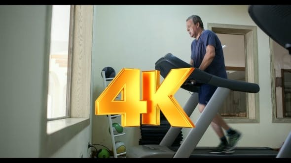 Thumbnail for Senior Man Exercising On Treadmill