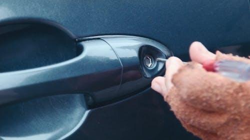 The Thief Hacks The Door Lock In The Car