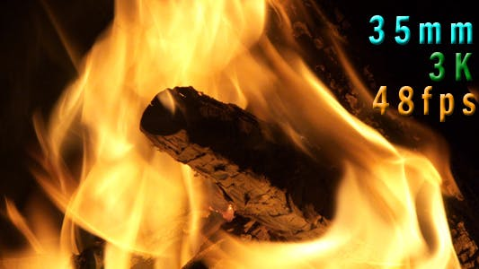 Thumbnail for Fire Pit With Flames At Night 04