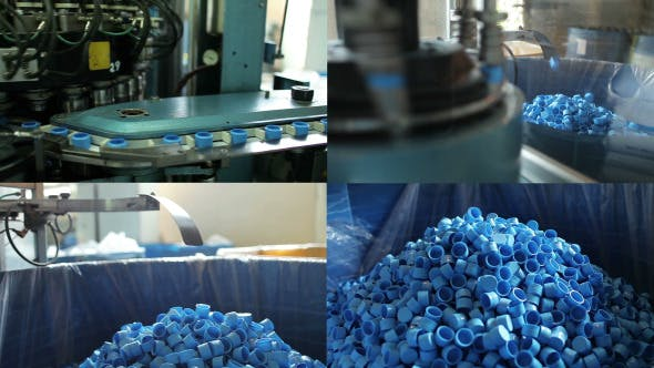 Thumbnail for Production Of Blue Plastic Bottle Caps Pack