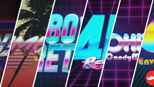 4K 1980s 10 Logo Text Intro Pack by iconoclast on Envato Elements