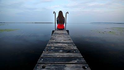 Sad Girl Near The River