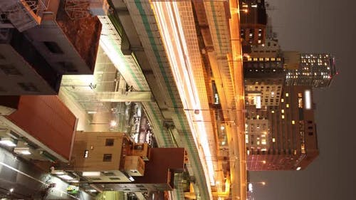 Elevated Road Time Lapse Tokyo Japan