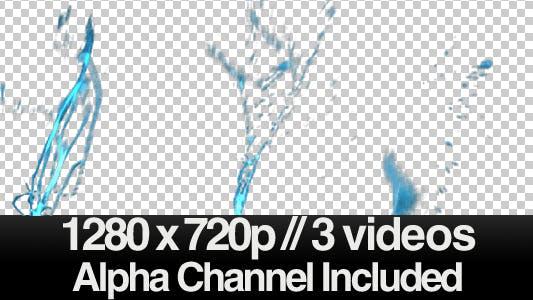 HD Water Splash / Splashing - Series of 3
