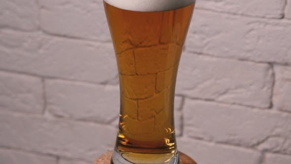 Thumbnail for A Glass Of Beer On a Rotating Slider