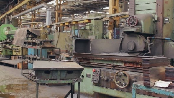 Thumbnail for Old Factory Machine Milling Metal