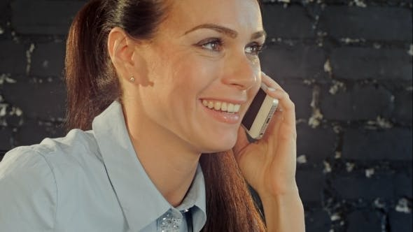Thumbnail for Beautiful Brunette Woman Or Businesswoman Talking