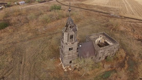 Abandoned Rural Church.