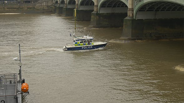 Thumbnail for Police Speed Boat on River