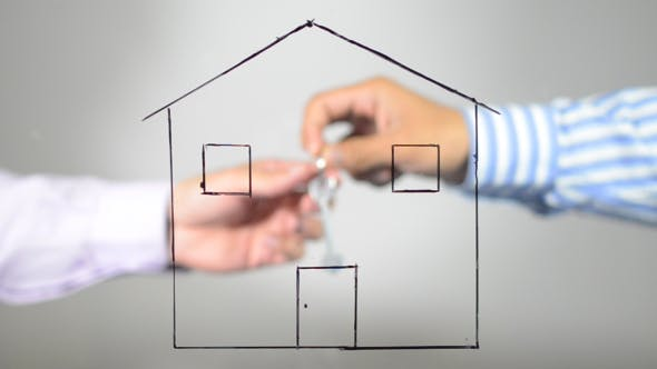 Thumbnail for Real Estate Deal, Man Giving House Keys