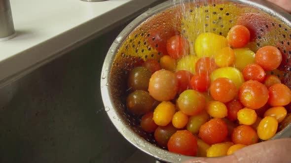 Thumbnail for Washing Tomatoes Slow Motion