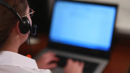 Worker Call Center Answers the Call