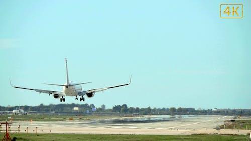 Kommerziell Flugzeuglandung 4K
