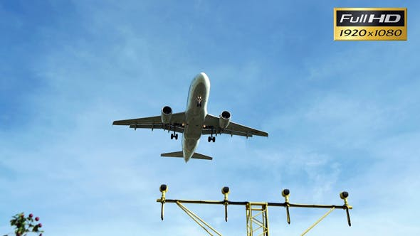 Thumbnail for Plane Airbus A319 Approaching