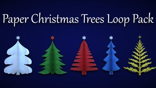 Thumbnail for Paper Christmas Trees Loop Pack