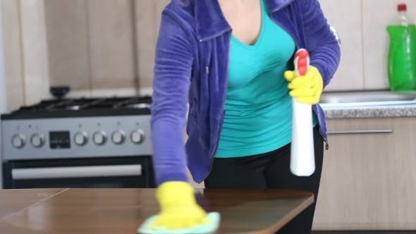 Thumbnail for She Cleans The Kitchen