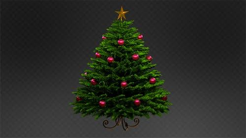 Realistic Christmas Tree Rotation