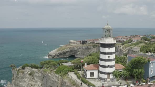 Thumbnail for Sea And Lighthouse Aerial View
