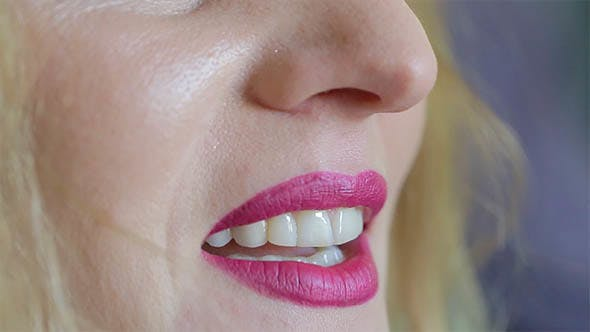 Thumbnail for Woman's Lips While Talking