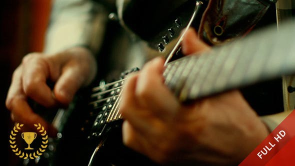 Thumbnail for Electric Guitar Being Played in Studio