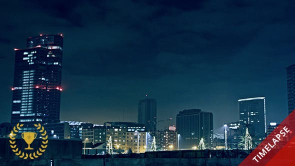 Thumbnail for Panoramic Night View on Modern City