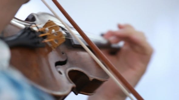 Thumbnail for Violinist Man Playing The Violin On a White