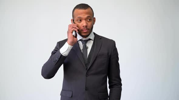 Thumbnail for Professional African-american Business Man Talking on Mobile Phone