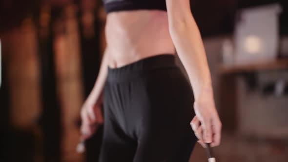 Thumbnail for Female Athlete Doing Cardio Workout