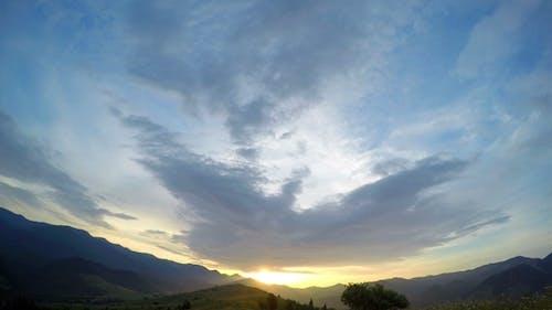 Sunset in Carpathian Mountains.