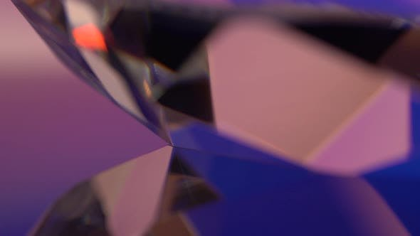 Diamond Is Rotated and Mirrored in Pink and Blue Shades