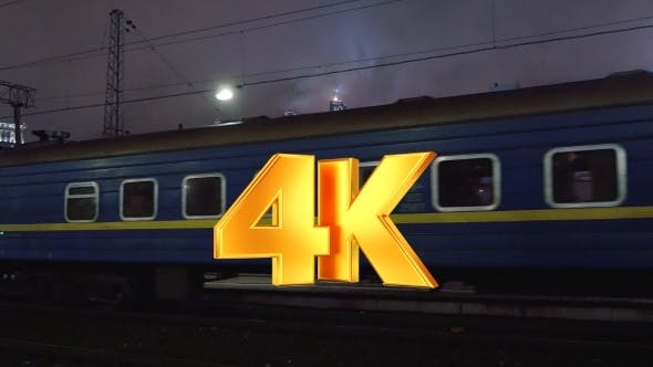 Thumbnail for Passenger Train Arriving To Station In The Evening