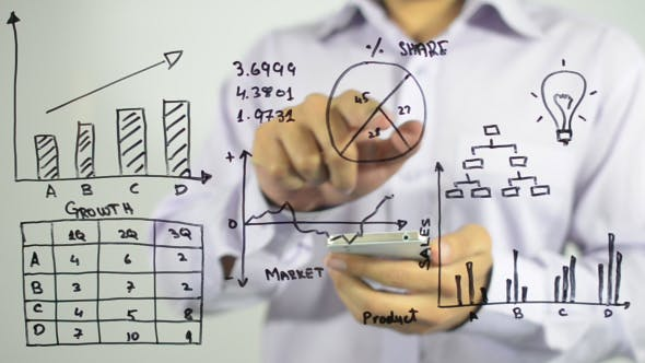 Thumbnail for Analyzing Business Chart Illustration, Smartphone