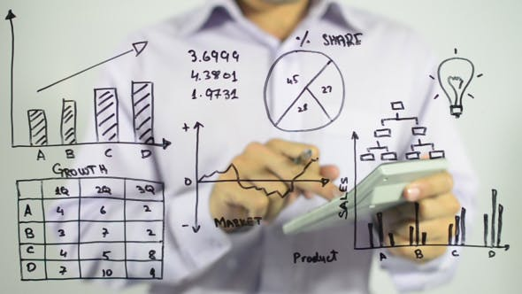 Thumbnail for Business Calculations on Transparent Screen
