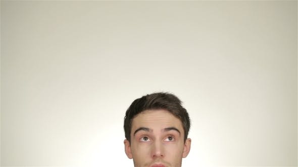 Thumbnail for The Head Of The Male Looks At Copy Space