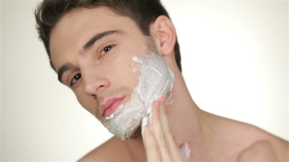 Thumbnail for Male Inflicts Shaving Foam