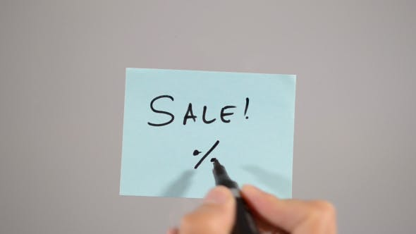 Thumbnail for Sales, Percentage Sign on Stick Note (2 in1)
