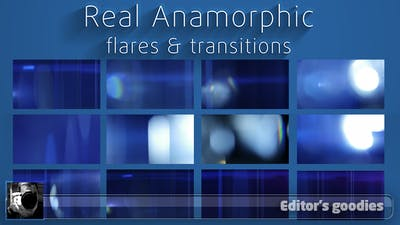 Real Anamorphic Flare Transition Pack
