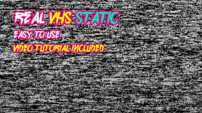 Real VHS Static