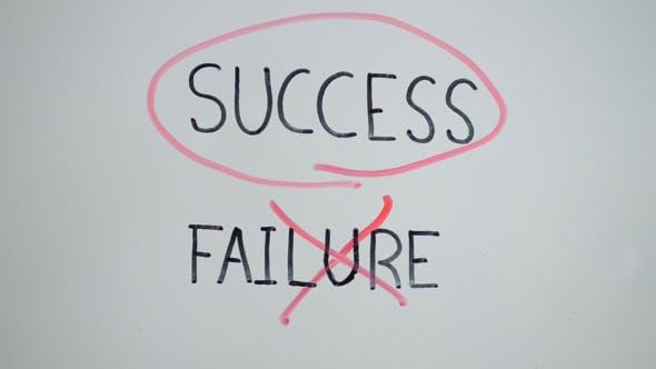 Thumbnail for Success or Failure Choice on Transparent Screen